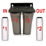 Arsenic-Lead-Chlorine-Sediment-E.Coli-Bacteria-VOC Double Filter w/Housing