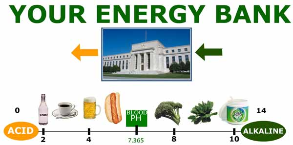 Acid and Alkaline Food Energy Bank